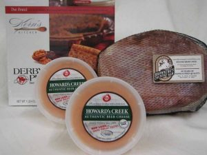 Spiral Ham, Derby-Pie® and Howard's Creek Authentic Beer Cheese